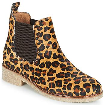 Schoenen Dames Laarzen Bensimon BOOTS CREPE Leopard