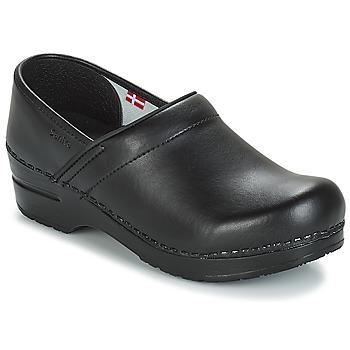 Schoenen Klompen Sanita PROF Zwart