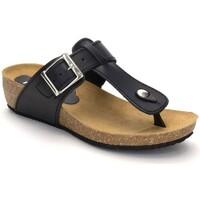 Schoenen Dames Slippers Morxiva Shoes Sandalias Bio de piel de mujer by Morxiva Noir