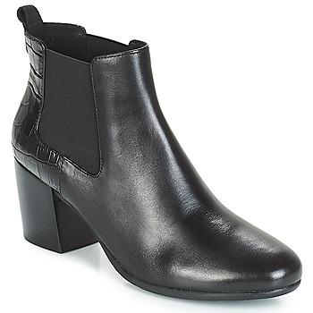 Schoenen Dames Enkellaarzen Geox D NEW LUCINDA Zwart