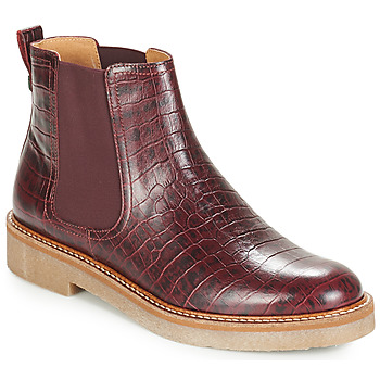 Schoenen Dames Laarzen Kickers OXFORDCHIC Bordeaux