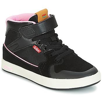 Schoenen Meisjes Hoge sneakers Kickers GREADY MID CDT Zwart / Roze