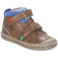 Schoenen Jongens Hoge sneakers Kickers IGUTO Brown