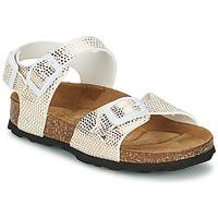 Schoenen Meisjes Sandalen / Open schoenen Betula Original Betula Fussbett JEAN Python / Goud