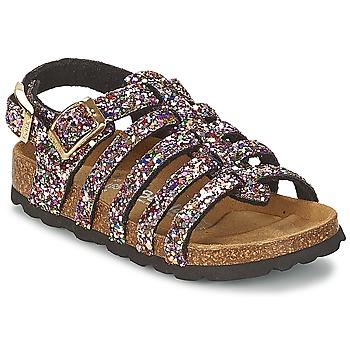 Schoenen Meisjes Sandalen / Open schoenen Betula Original Betula Fussbett LEONA Roze / Multikleuren
