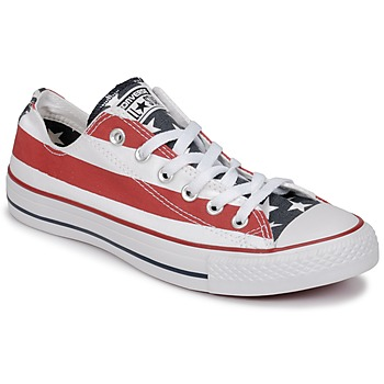 Schoenen Lage sneakers Converse CHUCK TAYLOR ALL STAR PRINT OX Blauw / Rood / Wit