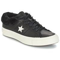 Schoenen Dames Lage sneakers Converse ONE STAR LEATHER OX Zwart