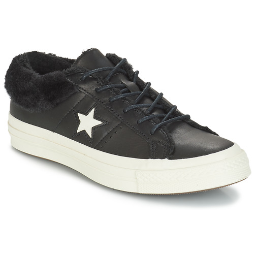 Schoenen Dames Lage sneakers Converse ONE STAR LEATHER OX Zwart