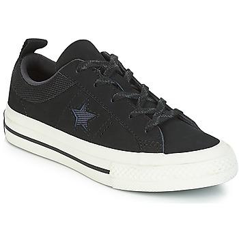 Schoenen Kinderen Lage sneakers Converse ONE STAR NUBUCK OX Zwart / Wit