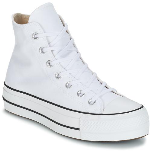 Schoenen Dames Hoge sneakers Converse CHUCK TAYLOR ALL STAR LIFT CANVAS HI Wit