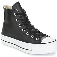 Schoenen Dames Hoge sneakers Converse CHUCK TAYLOR ALL STAR LIFT CLEAN LEATHER HI Zwart