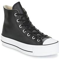 Schoenen Dames Hoge sneakers Converse CHUCK TAYLOR ALL STAR LIFT CLEAN LEATHER HI Zwart