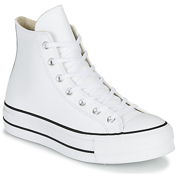 Schoenen Dames Hoge sneakers Converse CHUCK TAYLOR ALL STAR LIFT CLEAN LEATHER HI Wit
