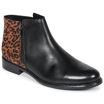 Schoenen Dames Laarzen Betty London JINANE Zwart / Brown