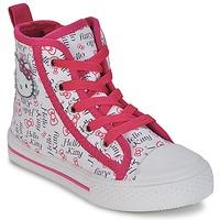 Schoenen Meisjes Hoge sneakers Hello Kitty LYNDA Wit