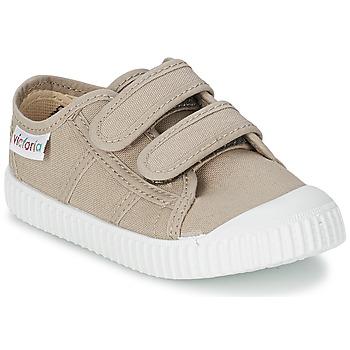 Schoenen Kinderen Lage sneakers Victoria BLUCHER LONA DOS VELCROS Beige
