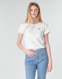 Textiel Dames T-shirts korte mouwen Levi's PERFECT TEE Wit