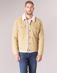 Textiel Heren Spijker jassen Levi's TYPE 3 SHERPA TRUCKER Beige