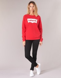 Textiel Dames Skinny Jeans Levi's 711 SKINNY  zwart / Sheep