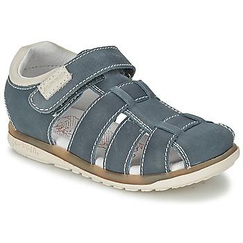 Schoenen Kinderen Sandalen / Open schoenen Garvalin SANDALIAS BOY Blauw