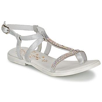 Schoenen Meisjes Sandalen / Open schoenen Acebo's MADALEN Zilver
