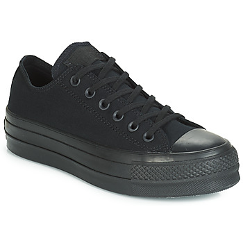 Schoenen Dames Lage sneakers Converse CHUCK TAYLOR ALL STAR CLEAN LIFT MONO CANVAS OX Zwart