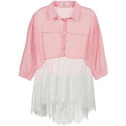 Textiel Dames Overhemden Brigitte Bardot AMBRE Rood / Wit