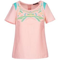 Textiel Dames Tops / Blousjes Color Block ADRIANA Roze