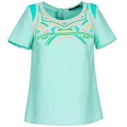 Textiel Dames Tops / Blousjes Color Block ADRIANA Blauw