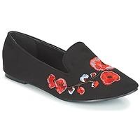 Schoenen Dames Mocassins Moony Mood JASMINY Zwart / Bloem
