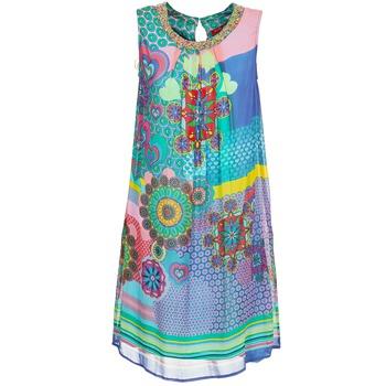 Textiel Dames Korte jurken Derhy BARDE Blauw / Groen / Multikleuren