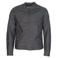 Textiel Heren Leren jas / kunstleren jas Esprit VENI Zwart