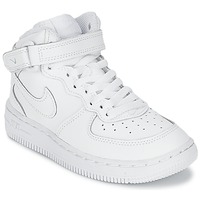 Schoenen Jongens Hoge sneakers Nike AIR FORCE 1 MID Wit