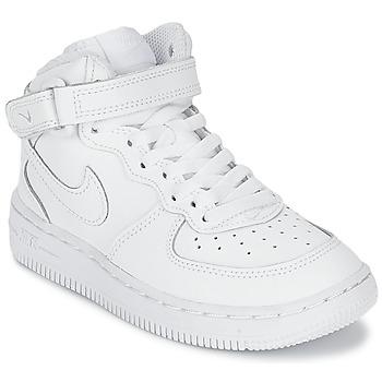 Schoenen Kinderen Hoge sneakers Nike AIR FORCE 1 MID Wit