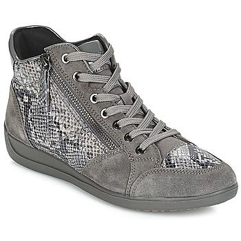 Schoenen Dames Lage sneakers Geox D MYRIA Grijs / Donker