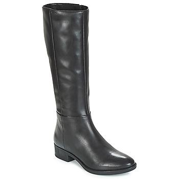 Schoenen Dames Hoge laarzen Geox D FELICITY Zwart