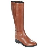 Schoenen Dames Hoge laarzen Geox D FELICITY Brown