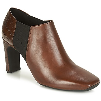 Schoenen Dames Low boots Geox D VIVYANNE HIGH Brown