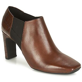 Schoenen Dames Low boots Geox D VIVYANNE HIGH Brown