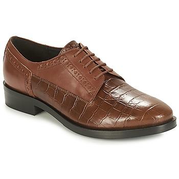 Schoenen Dames Derby Geox DONNA BROGUE Brown