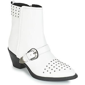 Schoenen Dames Enkellaarzen Geox D LOVAI Wit