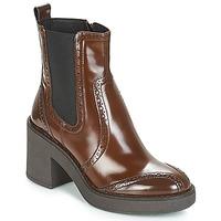 Schoenen Dames Enkellaarzen Geox D ADRYA MID Brown
