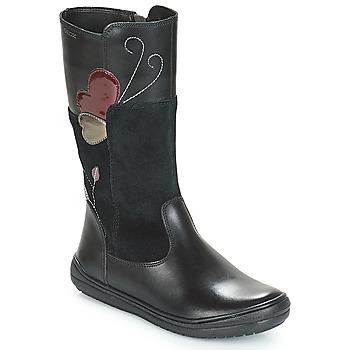 Schoenen Meisjes Hoge laarzen Geox J HADRIEL Zwart