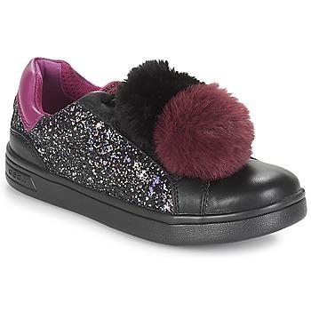 Schoenen Meisjes Lage sneakers Geox J DJROCK GIRL Zwart / Violet