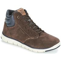 Schoenen Jongens Hoge sneakers Geox J XUNDAY BOY Brown / Marine