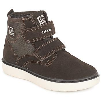 Schoenen Jongens Hoge sneakers Geox J RIDDOCK BOY Brown / Marine