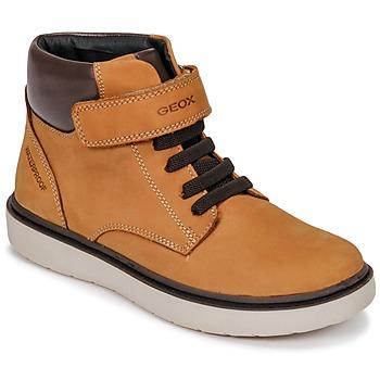 Schoenen Jongens Hoge sneakers Geox J RIDDOCK BOY WPF Brown