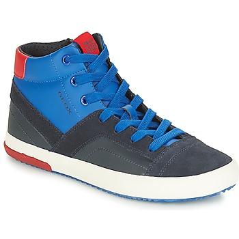 Schoenen Jongens Hoge sneakers Geox J ALONISSO BOY Marine / Rood