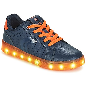 Schoenen Jongens Lage sneakers Geox J KOMMODOR BOY Marine / Orange