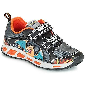 Schoenen Jongens Lage sneakers Geox J SHUTTLE BOY Zwart / Orange